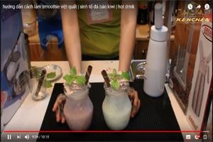 hướng dẫn cách làm smoothie việt quất | sinh tố đá bào kiwi