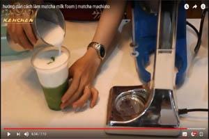 hướng dẫn cách làm matcha milk foam | matcha machiato