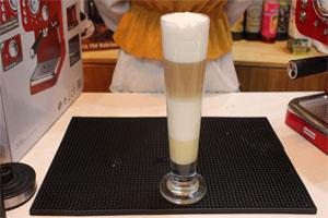 hướng dẫn cách làm cafe capuchino 3 tầng | máy pha cafe espresso