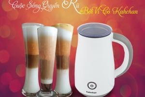 máy pha cà phê cappuccino mini, máy đánh sữa tạo bọt