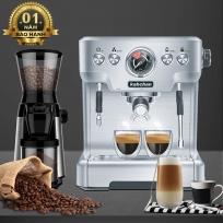combo máy xay cà phê chuyên nghiệp và máy pha cà phê espresso kahchan