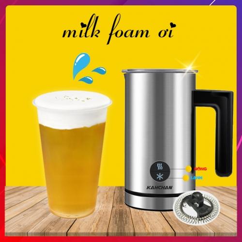cách làm trà sữa milk foam bằng máy pha milk foam kahchan